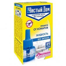 Чистый Дом жидкость для фумигатора от комаров без запаха на 45 ночей