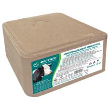 Минеральный лизунец,фелуцен для крупного рогатого скота (брикет, 10кг)