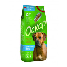 Оскар, корм для взрослых собак Крупных пород 12кг