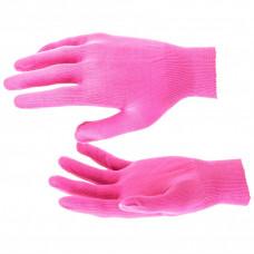 Перчатки Нейлон, 13 класс, цвет розовая фуксия, L