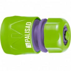 Соединитель пластмассовый, быстросъемный для шланга 1/2, аквастоп