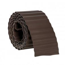 Бордюрная лента комфорт коричневая 9м х 15 см