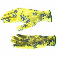 Перчатки садовые из полиэстера с нитрильным обливом  L