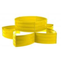 Клумба пластиковая, 15 × 540 см, 18 секций, жёлтая, «Конструктор»