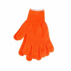 Перчатки трикотажные, толстые, оверлок, L
