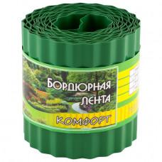Бордюрная лента комфорт зеленая 9м х 15 см
