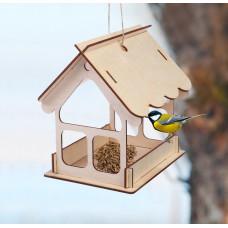 Кормушка для птиц «Домик», 21 × 18 × 21 см  (собери сам)